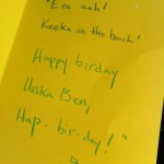 Birthday Cards from 2 & 4 Year old Nieces