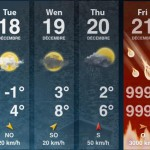 Weather Forecast for the week of December 21, 2012