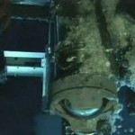 Liquid carbon dioxide venting from underwater volcanoes
