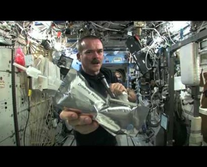 Wringing out Water from a Washcloth in Zero G