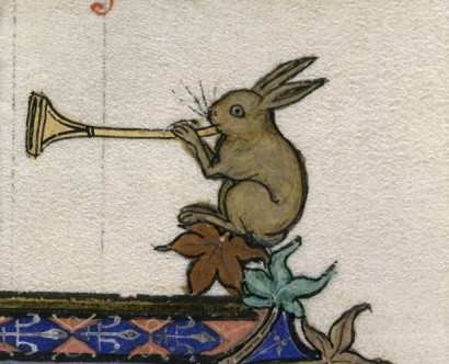 Bunny playing trumpet