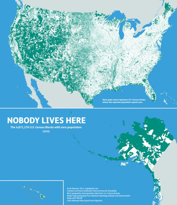 mapsbynik: Nobody lives here: The nearly 5 million Census...